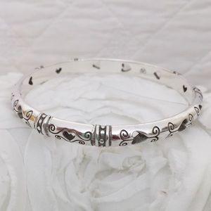 Silver Brighton Bangle Bracelet